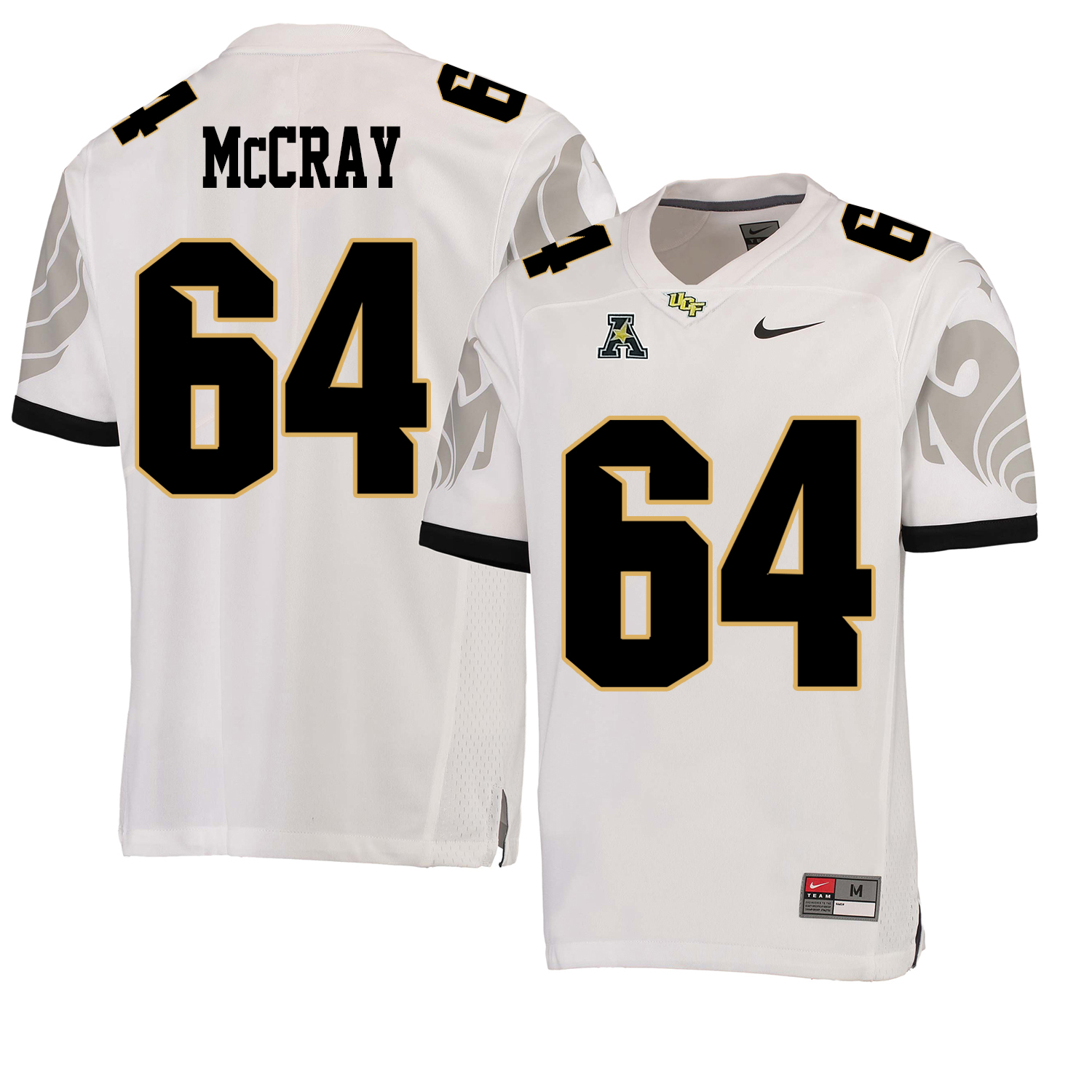 UCF Knights 64 Justin McCray White College Football Jersey