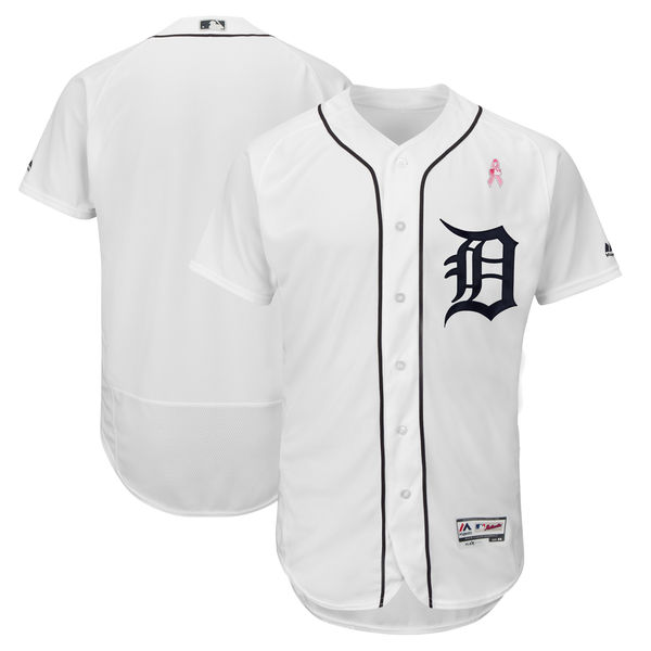Tigers Blank Whites 2018 Mother's Day Flexbase Jersey