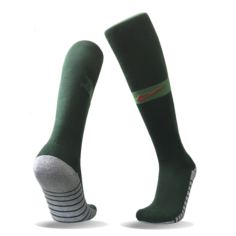 Portugal Home Youth 2018 FIFA World Cup Thailand Soccer Socks