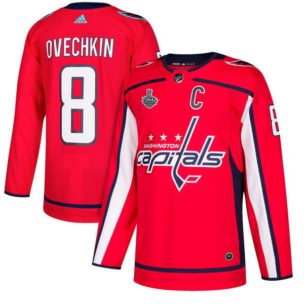 Capitals 8 Alex Ovechkin Red 2018 Stanley Cup Final Bound Adidas Jersey