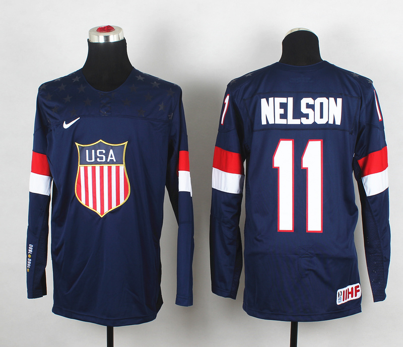 USA 11 Nelson Blue 2014 Olympics Jerseys