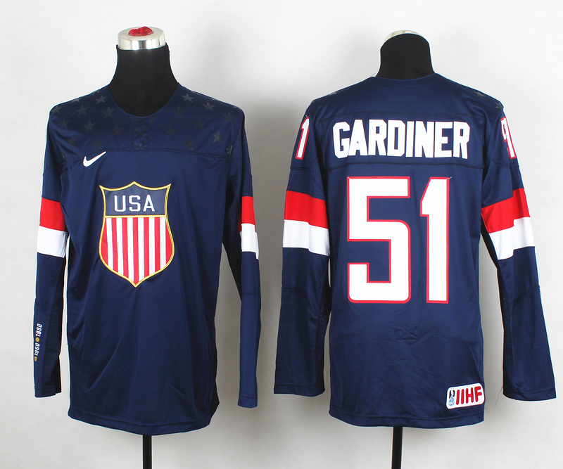 USA 51 Gardiner Blue 2014 Olympics Jerseys