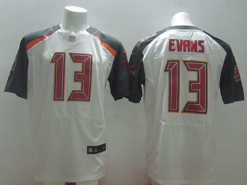 Nike Buccaneers 13 Mike Evans White Big Size Elite Jersey