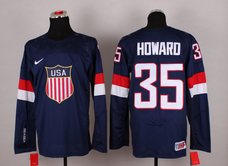 USA 35 Howard Blue 2014 Olympics Jerseys