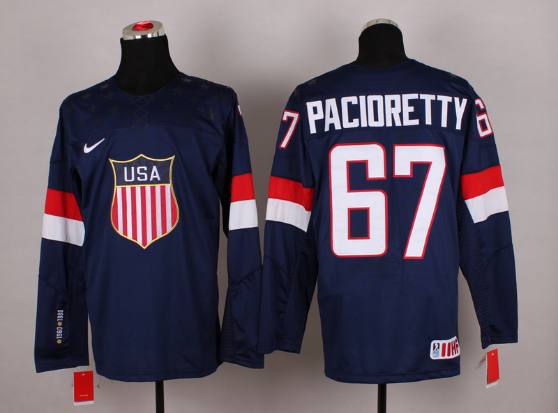 USA 67 Pacioretty Blue 2014 Olympics Jerseys