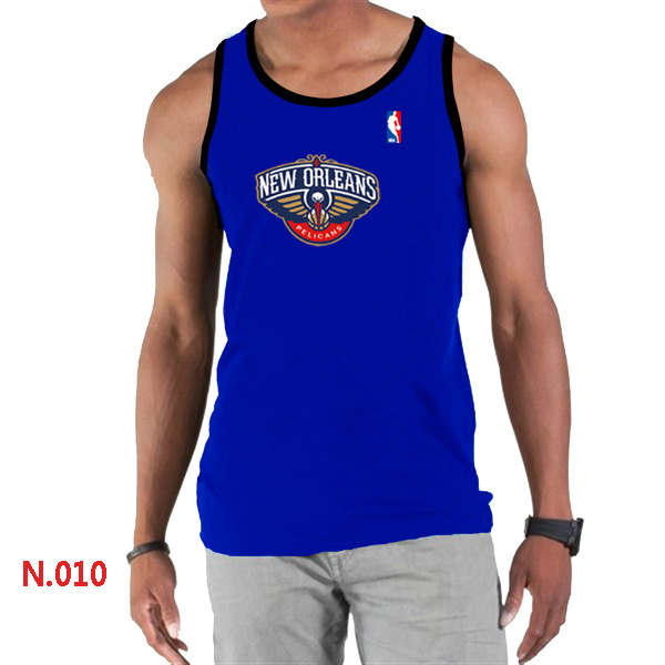 New Orleans Pelicans Big & Tall Primary Logo Men Blue Tank Top
