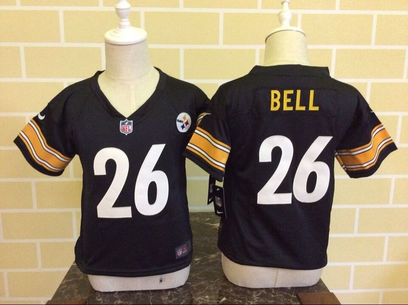Nike Steelers 26 Le'Veon Bell Black Toddler Game Jersey