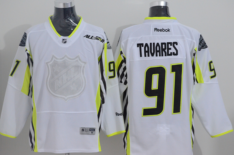 Islanders 91 Tavares White 2015 All Star Jersey