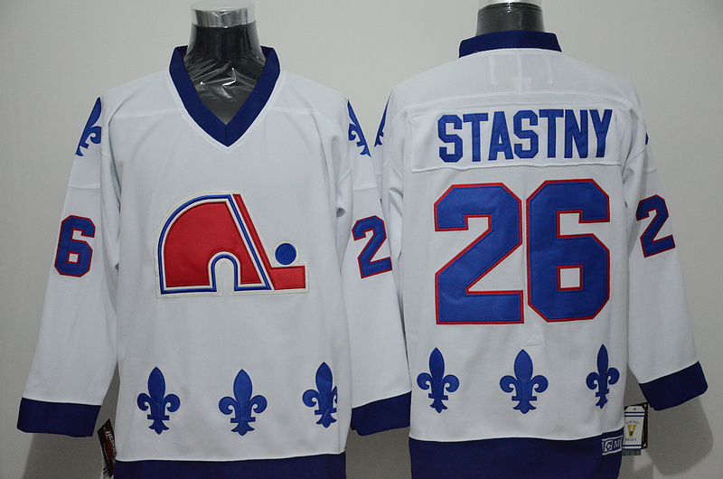 Nordiques 26 Peter Stastny White CCM Jersey
