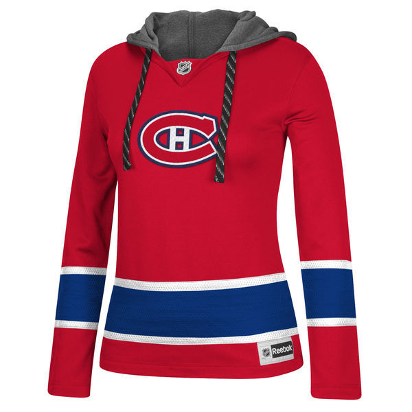 Montreal Canadiens Red All Stitched Women's Hooded Sweatshirt