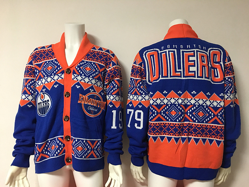 Edmonton Oilers NHL Adult Ugly Cardigan Sweater