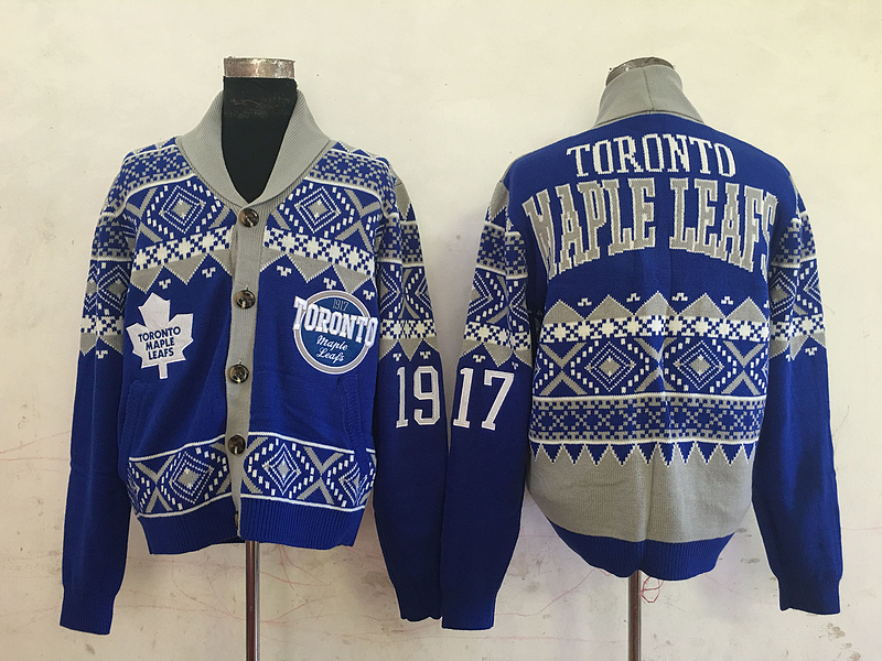 Toronto Maple Leafs NHL Adult Ugly Cardigan Sweater