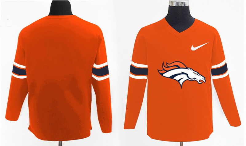 Nike Broncos Team Logo Orange Knit Sweater
