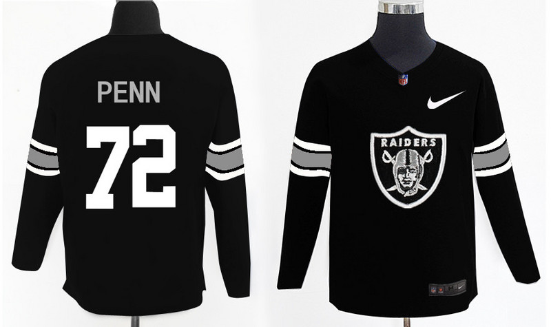 Nike Raiders 72 Donald Penn Black Knit Sweater
