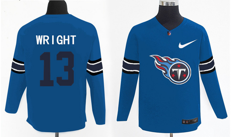 Nike Titans 13 Kendall Wright Light Blue Knit Sweater