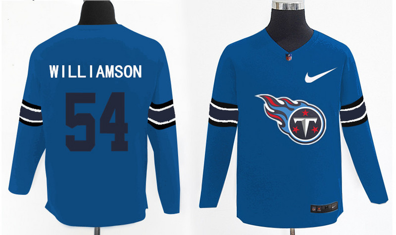 Nike Titans 54 Avery Williamson Light Blue Knit Sweater