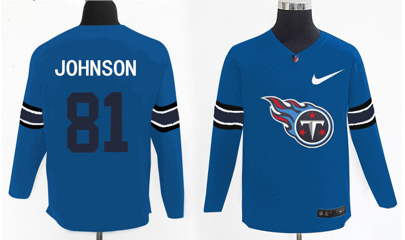 Nike Titans 81 Chris Johnson Light Blue Knit Sweater