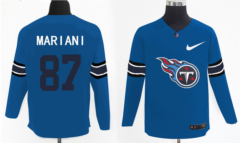 Nike Titans 87 Marc Mariani Light Blue Knit Sweater