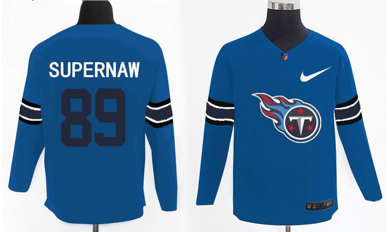 Nike Titans 89 Phillip Supernaw Light Blue Knit Sweater