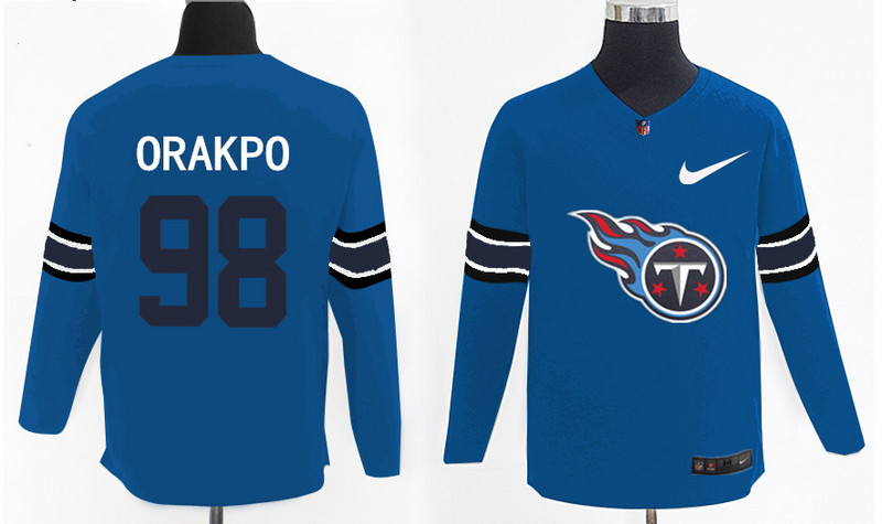 Nike Titans 98 Brian Orakpo Light Blue Knit Sweater