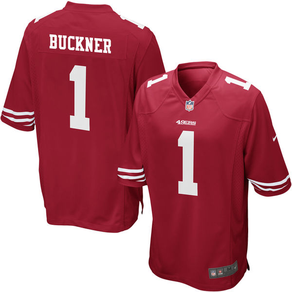 Nike 49ers 1 DeForest Buckner Red 2016 Draft Pick Elite Jersey
