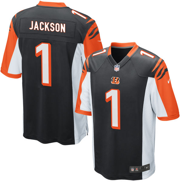 Nike Bengals 1 William Jackson Black 2016 Draft Pick Elite Jersey