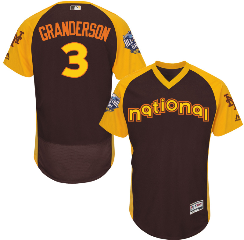 Mets 3 Curtis Granderson Brown 2016 All-Star Game Cool Base Batting Practice Player Jersey
