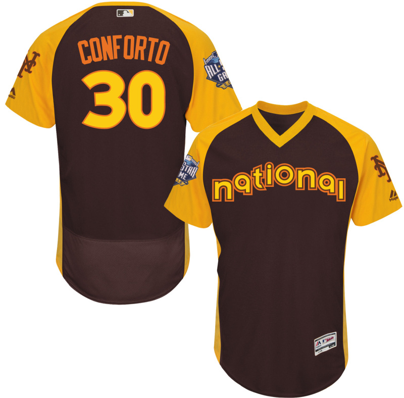 Mets 30 Michael Conforto Brown 2016 All-Star Game Cool Base Batting Practice Player Jersey