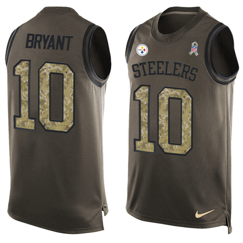 Nike Steelers 10 Martavis Bryant Olive Green Salute To Service Player Name & Number Tank Top