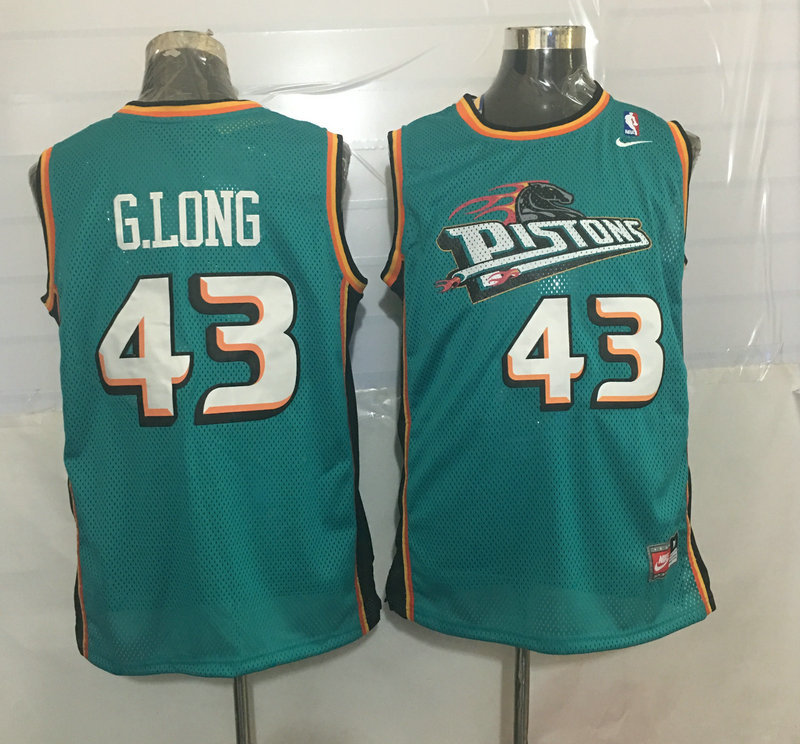 Pistons 43 Grant Long Teal Nike Stitched Jersey