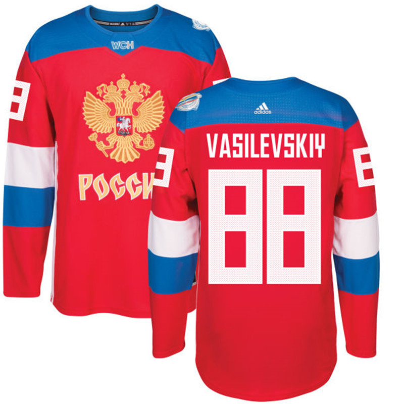 Russia 88 Andrei Red 2016 World Cup Of Hockey Premier Player Jersey