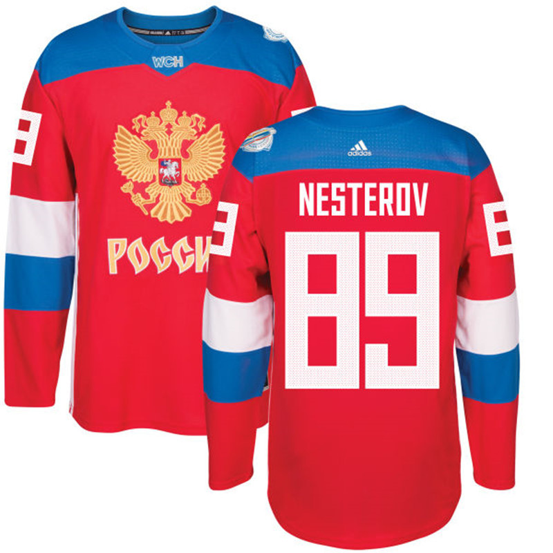 Russia 89 Nikita Nesterov Red 2016 World Cup Of Hockey Premier Player Jersey