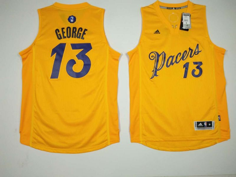 Pacers 13 Paul George Yellow 2016 Christmas Day Swingman Jersey