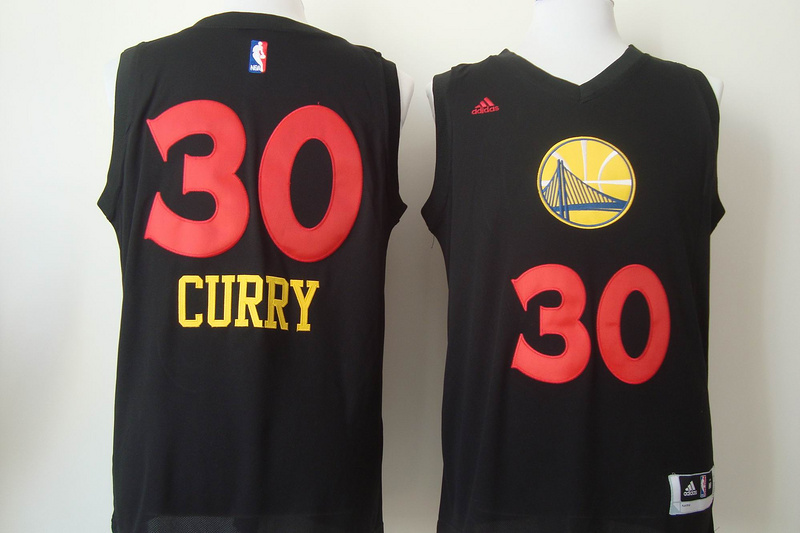 Warriors 30 Curry Black Fashion Jerseys