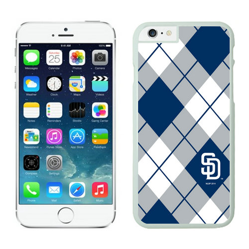 San Diego Padres iPhone 6 Cases White
