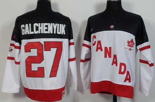 Canada 27 Alex Galchenyuk White 100th Celebration Jersey