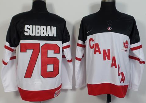 Canada 76 P.K Subban White 100th Celebration Jersey