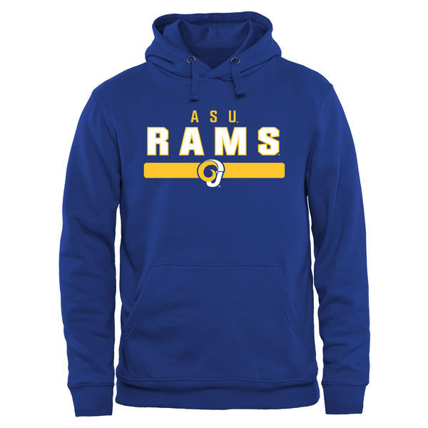 Albany State University Golden Rams Fresh Logo Blue College Pullover Hoodie (2)