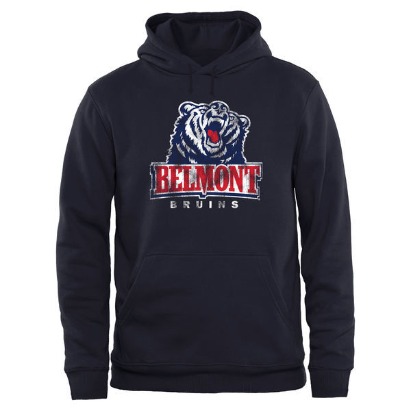Belmont Bruins Team Logo Navy Blue College Pullover Hoodie5