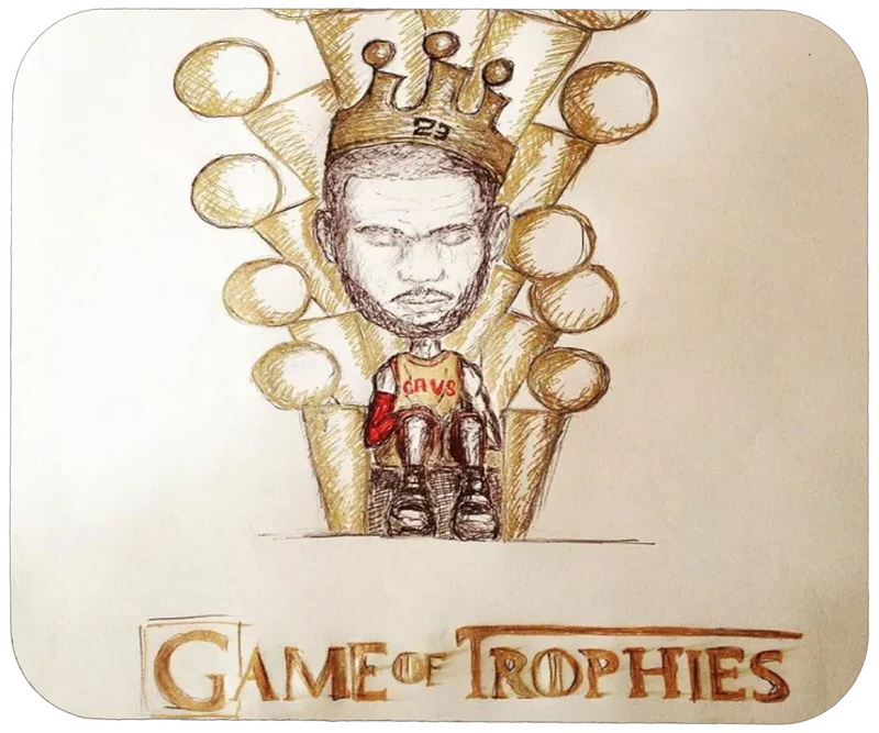 Cavaliers Game of Trophies Cartoon Logo Gaming/Office Mouse Pad