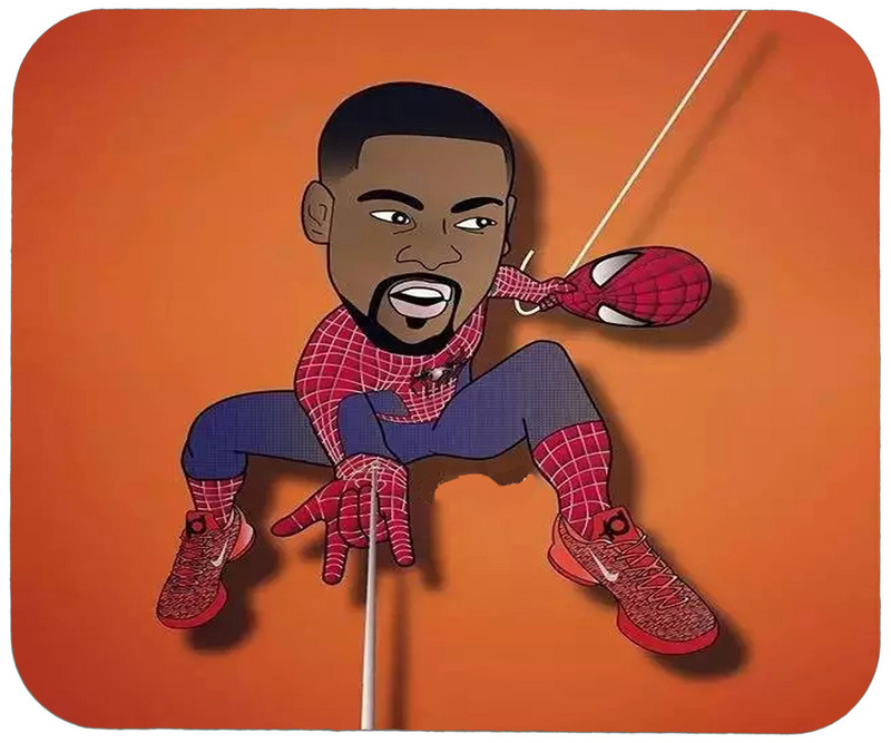 Kevin Durant Spiderman Cartoon Logo Gaming/Office Mouse Pad