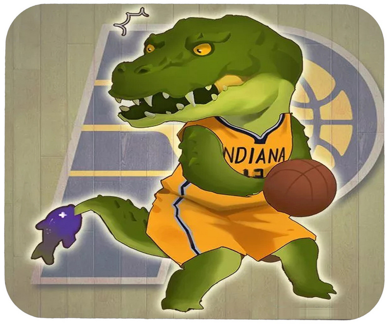Pacers Cartoon Logo Gaming/Office Mouse Pad
