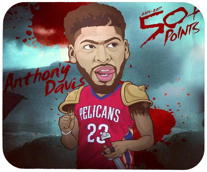 Pelicans Anthony Davis Cartoon Logo Gaming/Office Mouse Pad