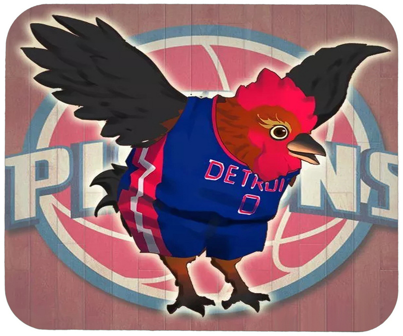 Pistons Cartoon Logo Gaming/Office Mouse Pad
