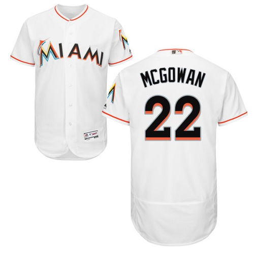 Marlins 22 Dustin McGowan White Flexbase Jersey