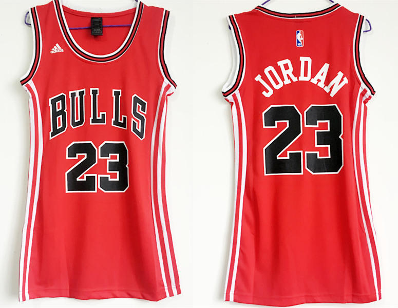 Bulls 23 Michael Jordan Red Women Swingman Jersey