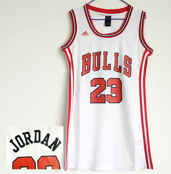 Bulls 23 Michael Jordan White Women Swingman Jersey