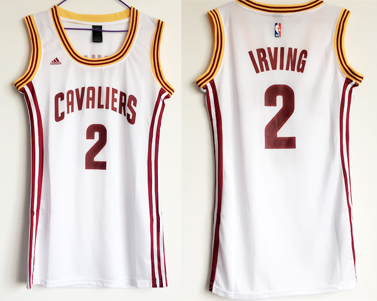 Cavaliers 2 Kyrie Irving White Women Swingman Jersey