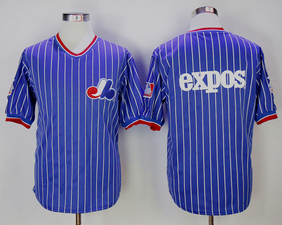 Expos Blank Blue Throwback Jersey