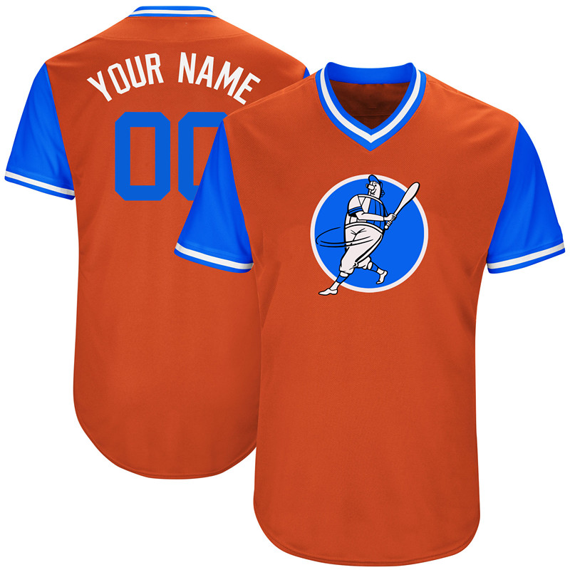 Astros Orange Men's Customized New Design Jersey